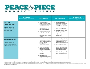 Peace by Piece Project Rubric